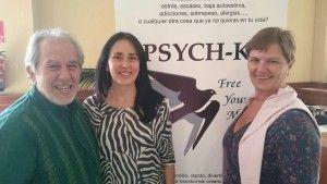 Bruce Lipton, Matilde Santos Leal y yo.